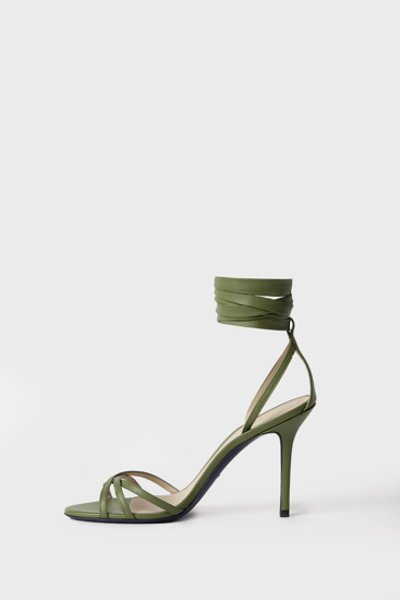 """Picture of """"Dolly"""" aloe green leather sandal"""