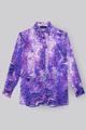 "Picture of ""Ale"" animalier purple print silk shirt"