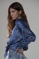 "Picture of ""Ale"" bandana print silk shirt"