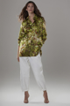 """Picture of """"Ale"""" green print silk shirt"""