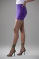 """Immagine di Minigonna """"Vivy"""" in pelle scamosciata viola"""