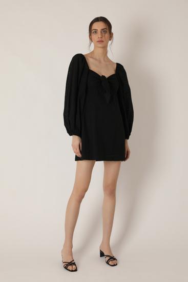 """Picture of """"Alice"""" black sangallo dress"""
