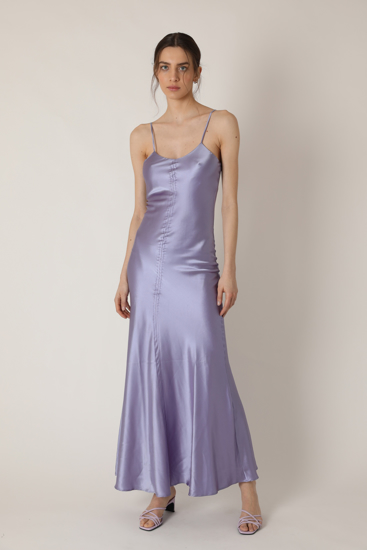 """Picture of """"Roby"""" lilac silk dress"""
