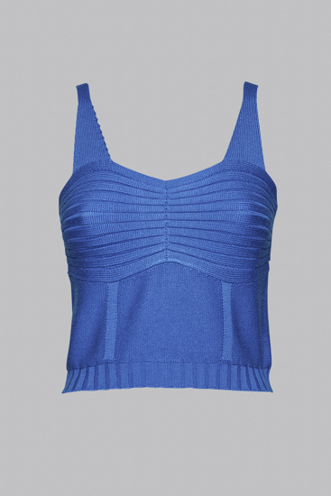 Picture of Blue wool corset