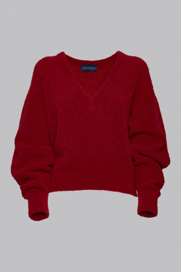 """Picture of """"Mousse"""" V-necline red sweater"""